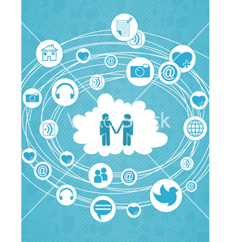Free social media concept vector - Free vector #243435