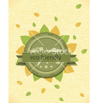 Free eco friendly label vector - vector gratuit #243525