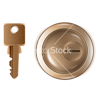 Free keyhole and key vector - Kostenloses vector #243715