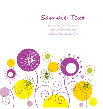 Free autumn floral background vector - Free vector #243755