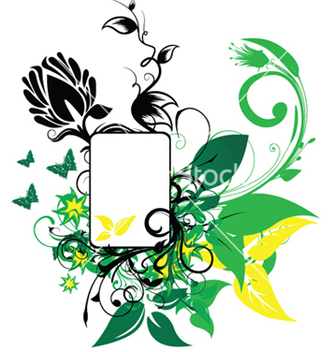 Free abstract spring floral frame vector - Free vector #243925