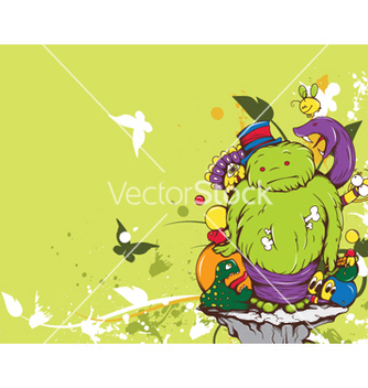 Free funny monsters vector - Free vector #243995