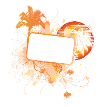 Free summer frame vector - Free vector #244255