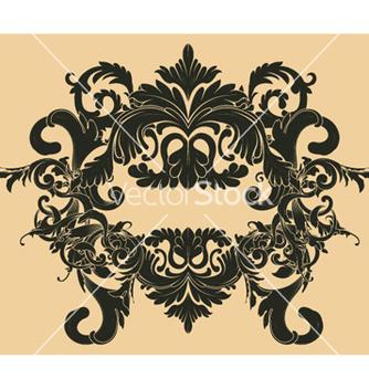 Free vintage floral frame vector - Free vector #244265