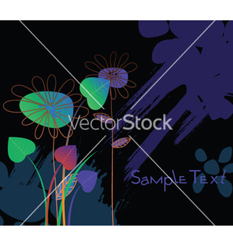 Free floral with splash vector - Free vector #244325