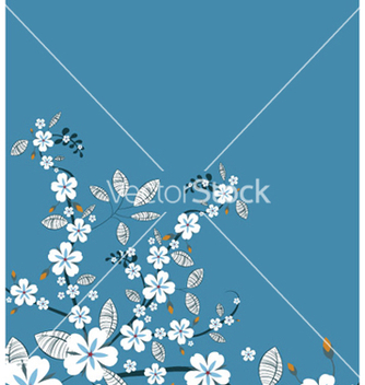 Free spring floral background vector - Free vector #244475