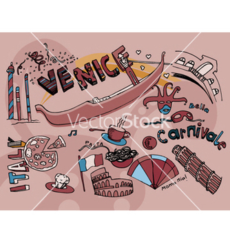 Free venice doodles vector - vector #244485 gratis