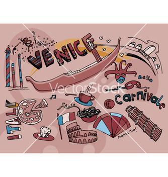 Free venice doodles vector - Free vector #244485