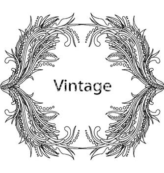 Free vintage floral frame vector - Free vector #244545