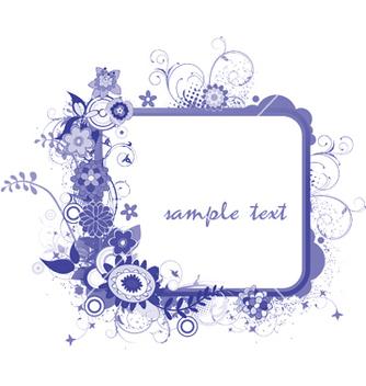 Free floral frame vector - Kostenloses vector #244625
