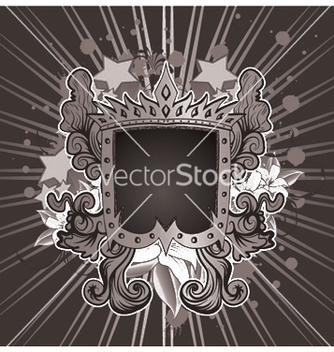 Free vintage emblem with shield vector - Free vector #244775