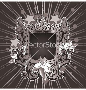 Free vintage emblem with shield vector - Kostenloses vector #244775