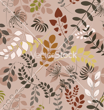 Free floral seamless pattern vector - Kostenloses vector #244915