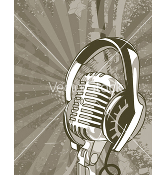 Free concert poster with microphone vector - бесплатный vector #244945