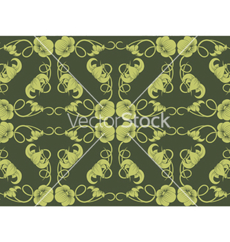 Free seamless floral pattern vector - Free vector #244965