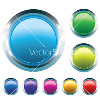 Free glossy buttons set vector - Free vector #245005