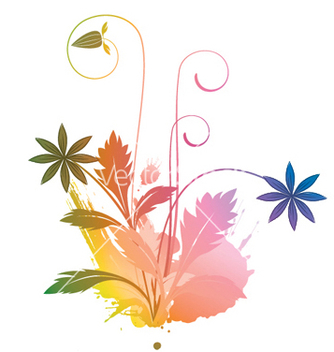 Free watercolor floral vector - vector gratuit #245135