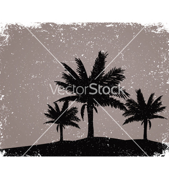 Free summer grunge background with palm trees vector - Free vector #245265