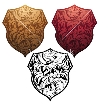 Free shield with floral vector - Kostenloses vector #245545
