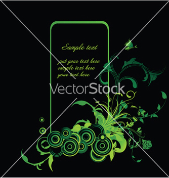 Free abstract floral frame with circles vector - Free vector #245625
