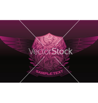 Free vintage emblem with shield and wings vector - Free vector #245655