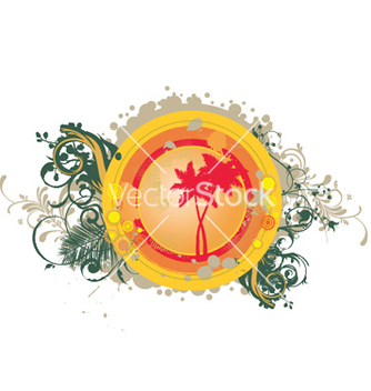 Free summer with palm trees vector - Free vector #245785