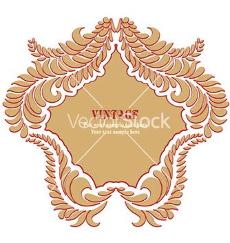 Free vintage floral frame vector - Kostenloses vector #245825