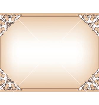 Free baroque floral frame vector - vector gratuit #245845
