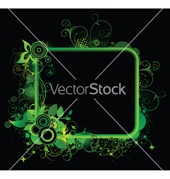 Free abstract floral frame with circles vector - Free vector #246145
