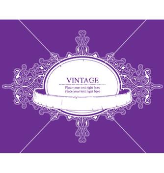 Free retro floral label vector - Free vector #246545