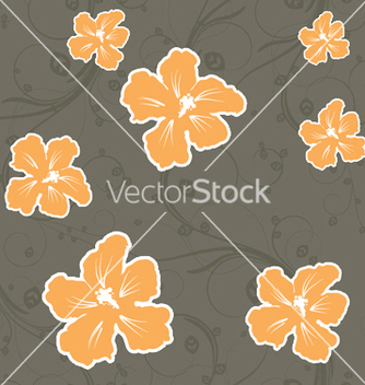 Free seamless floral pattern vector - Kostenloses vector #246575