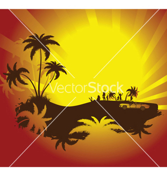 Free summer background with palm trees vector - Free vector #246615