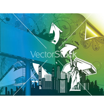 Free urban poster with 3d arrows and billboard vector - Free vector #246645