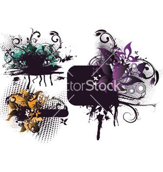 Free grunge floral frames set vector - Kostenloses vector #246685