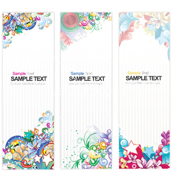 Free web banners with floral vector - Free vector #246755