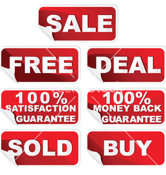 Free shopping stickers set vector - Free vector #246815