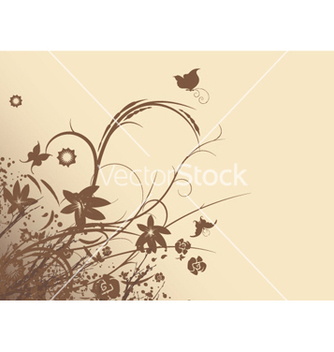 Free vintage floral background vector - Free vector #246875