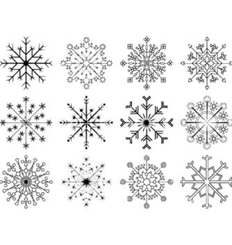 Free snowflakes set vector - Kostenloses vector #246895