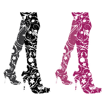 Free stylized woman legs vector - бесплатный vector #247235