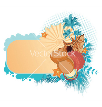 Free summer with sea creatures vector - Free vector #247295