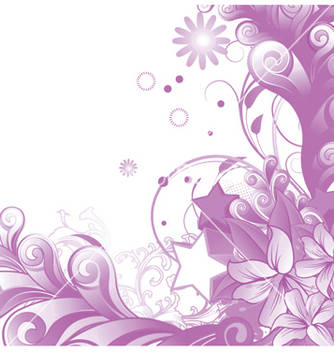 Free abstract floral vector - Kostenloses vector #247335