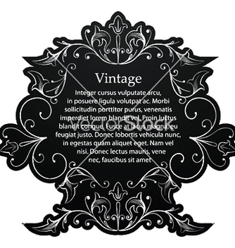 Free vintage silver floral frame vector - Free vector #247795