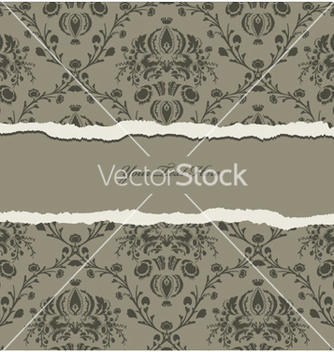 Free torn damask wallpaper vector - Kostenloses vector #248075