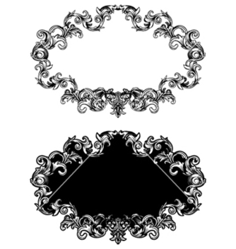 Free baroque floral frame in two different styles vector - Kostenloses vector #248185