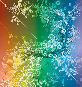 Free abstract floral background vector - Free vector #248215