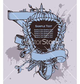 Free vintage crest with scroll vector - Free vector #248255