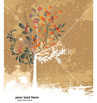 Free grunge floral and tree vector - Free vector #248375