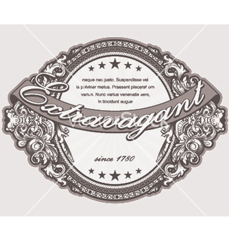 Free elegant vintage label with floral vector - Free vector #248475