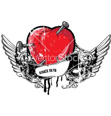 Free heart emblem vector - бесплатный vector #248895