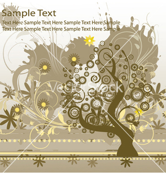 Free grunge floral background with tree vector - Free vector #249035